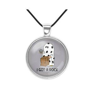 Charlie Brown I got a Rock Halloween Necklace New